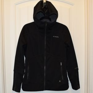 Columbia Ladies Hooded Jacket Black Size Medium